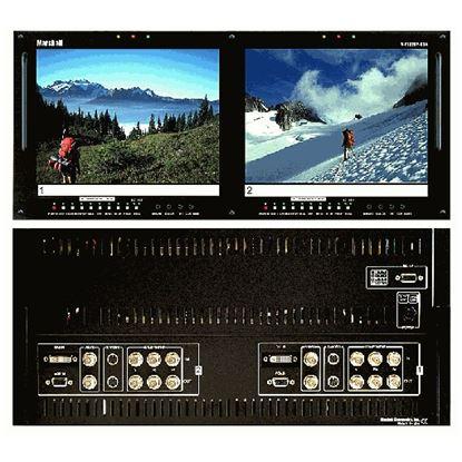 Image de V-R102DP-HDA Dual 10.4' LCD Rack Mount Panel with HDA + DVI inputs